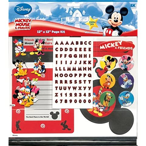 Disney 12-by-12 Mickey and Friends Scrapbook Page Kit by Disney - Disney Scrapbook Kit
