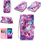 Ooboom® Samsung Galaxy A5 2016 Coque PU Cuir Flip Folio Housse Étui Cover Case Wallet Format Portefeuille Support Pochettes Cartes pour Samsung Galaxy A5 2016 - Loup