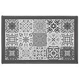 Déco Tapis alfombra Déco Rectángulo, Poliéster, Gris, 50x 80cm