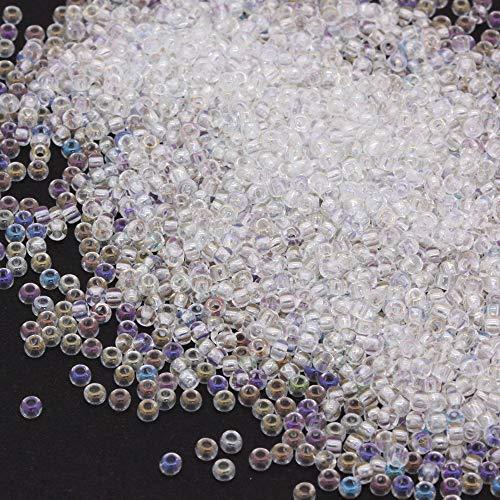 Preciosa Beads Unlimited Rainbow Tschechische Glas klar Rocaille/Samen 11/0-pack von 100g -