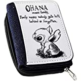 Ohana Means Family Stitch Women's Denim Coin Wallet, Girls Purse, Gift Purse Wallet, Stags Purse Birthday Gift.