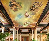 Malilove 3d Raum Tapete benutzerdefinierte Wandbild non-woven Wall Sticker Continental Bibel kleiner Engel Deckengemälde Fototapete für Wände 3d