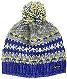 Eisbär Kinder Montel Pompon Mütze, blau/Graumele/Gelb/White, 55
