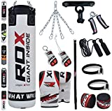 RDX 13 Piece Boxing Set 4FT 5FT Filled Heavy Punch Bag Gloves Ceiling Hook Chains MMA...