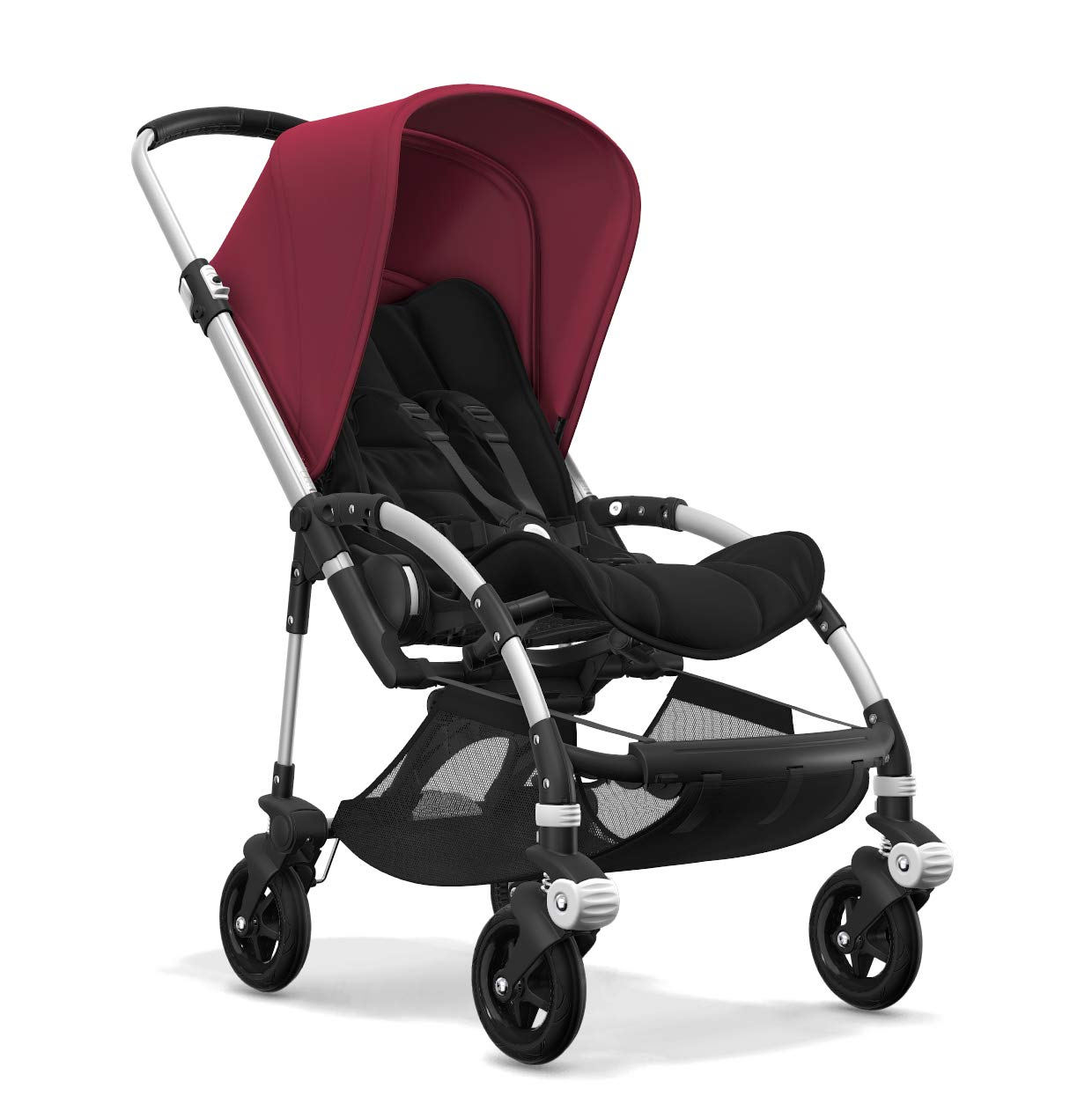 Bugaboo Bee 5, Foldable and Lightweight Pushchair, Converts Into Pram, Black/Ruby Red Bugaboo The perfect choice for city living Compact yet comfortable for parent and baby Light and easy one-piece fold for small spaces 2