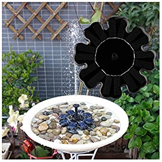 Rcool Outdoor Solar Powered Bird Bath Water Fountain Pump Solar Sprinkler Fountain for Pool Garden Aquarium