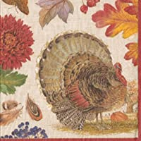 Entertaining with Caspari 12260L Harvest Gathering Napkin Luncheon, 40-Pack