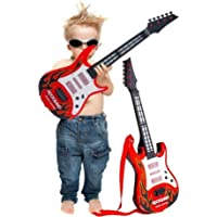 Kids Guitar Rockband for Your Upcoming Superstar by Sceva,Battery Operated Music and Lights Rock Band Guitar for Kids…