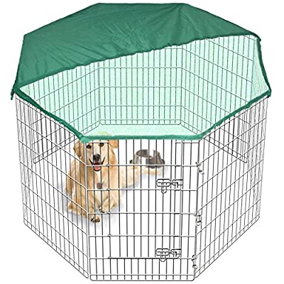 Large Pet Play Pen Dog Puppy Cage Metal Folding Run Fence Garden Crate Indoor/Outdoor & FREE Cover 2 Sizes by Edenstar
