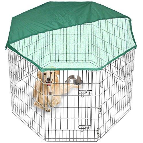 Großer Laufstall Hundebox/Transportkäfig für Hundewelpen, zusammenklappbar, Run Zaun Garten-Box & Bezug gratis 2Größen