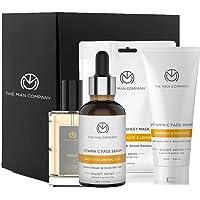 The Man Company Ultimate Vitamin C Facial Care Kit with Face Wash, Serum, Sheet Mask & Talc Long Lasting Premium Perfume…