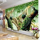 Rureng Im Europäischen Stil Pfau Wald Foto Tapete Wohnzimmer Fernseher Sofa Studie Hintergrund Wandmalerei Wandmalerei 3D 350X250Cm