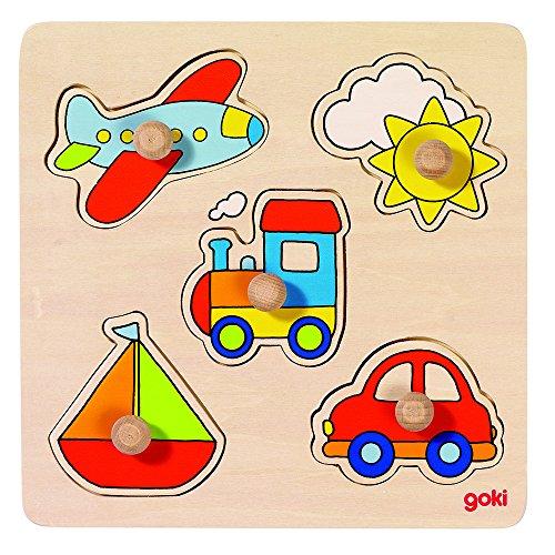 Goki 57547 - Steckpuzzle - Meine Reise, Basic