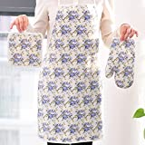 Supreme 4pc Kitchen Linen Set Apron Oven Gloves Hot Plate Holder