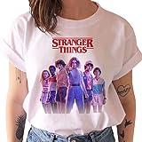 Stranger Things Maglietta per Ragazza, Stranger Things 4 T-Shirt Maniche Corte Maglia con Stampa Lettera Tee Moda Camicia Top