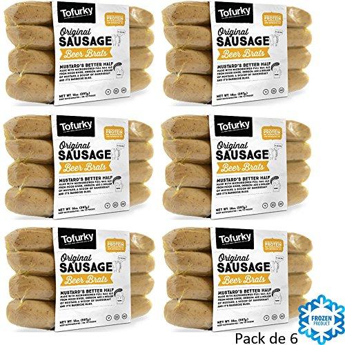 TOFURKY SALCHICHAS Veganas elaboradas con Cerveza - Pack de 6