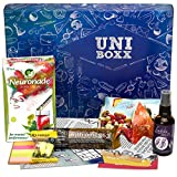 Uni-Boxx (13 Piece) - High-Quality Care Package for Students as Studying Motivation | With Trail Mix, Neuronade, Study Aids, Healthy Snacks, etc. | The Gift Box for Start of Uni & Exam Periods