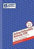 20er Maxi Sparpack Avery Zweckform Auftrag/Lieferschein/Rechnung, 1. und 2. Blatt bedruckt, SD, DIN A5, 2x40 Blatt (20)