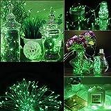 ODJOY-FAN 6 Stück 3m 30LED Fee Licht Zeichenfolge Licht Batterie Sternenklar Zeichenfolge Kupfer Draht Dekor Weihnachten Wohnaccessoires Beleuchtung String Light (Grün,6 PC)