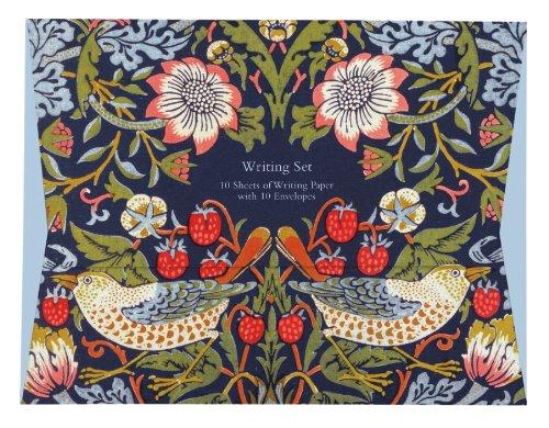 Museums and Galleries Marketing. Victoria and Albert Museum, 18,8 x 24,5 cm, Strawberry Thief Briefpapier-Set mit Umschlägen, 10 Stück