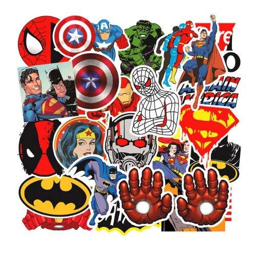 Superheld Superman Aufkleber Avengers Trolley Autogepäck Kühlschrank Graffiti Aufkleber Für Kinder Kinder Halloween Geschenke 50St