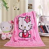 YIMU Couverture en flanelle douce avec imprimé Hello Kitty - Couverture en polaire pour garçons et filles - Pour enfants et b