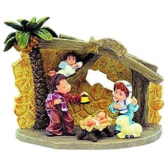 Nadal – Portal de Belén con palmera tamaño 15x8x11 centímetros, modelo 746225