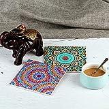 Design Untersetzer Set - Dekorative Keramik Untersetzer für Glas, Tassen, Vasen, Kerzen und Töpfe auf ihrem Esstisch - Premium Boho / Orientalisch Design (6 Tassenuntersetzer + 2 Vasenuntersetzer) - 5