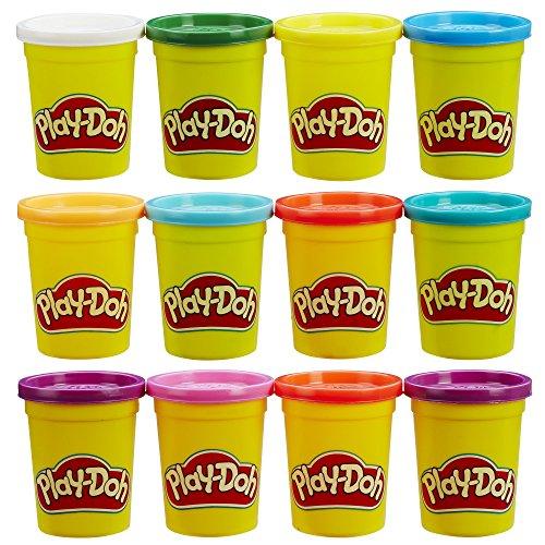 Play-Doh - Pack de 12 botes de plastilina (Hasbro B6751EU4)