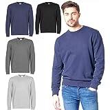 XXR Mens Sweatshirt Plain Soft Fleece Crew Neck Jumper Work Sweat Top Pullover Jersey