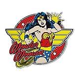 DC Comics Silber Buffalo Wonder Woman Posing mit Armreifen die cut Zeichen, 29,8cm von 22,9cm