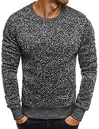 OZONEE Mix Herren Longsleeve Langarmshirt Sweatshirt Motiv Basic Fitness  Sport Gym Training Täglichen Crewneck Modern Streetwear… f99c84ffb4