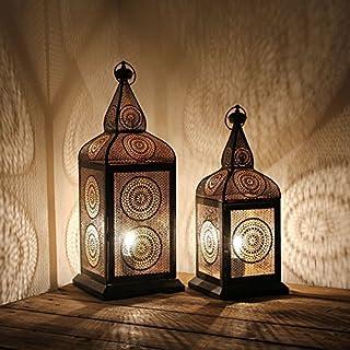 albena shop 74-109 LIDA Oriental Floor lamp Moroccan Lantern Metal (Set: S + L)