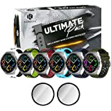 Remson Ultimate Pack of 8, Silicone Strap Band with Screen Protector For Huawei Watch GT2e, Replacement Band and TPU Screen P