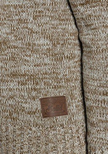 SOLID Praktik Herren Kapuzenpullover Strickhoodie Cross-Over-Kragen aus 100% Baumwolle Dune (5409)