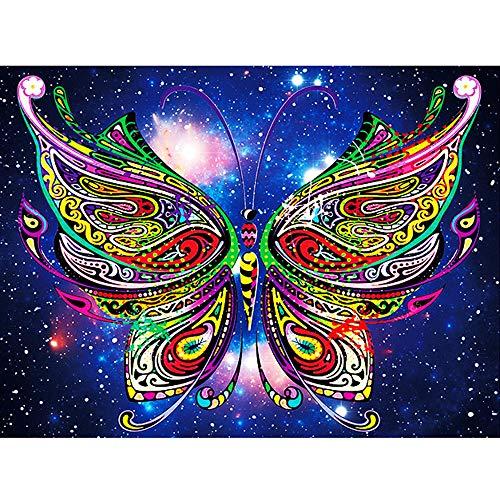 antmalerei, Kristall-Strass-Stickerei, Gemälde für Heimwanddekoration, kreative, bunte Vögel und Katzen Kreuzstich, D, 40 * 30cm ()