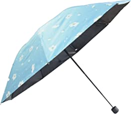 KEKEMI Designer 3 Fold Flower Print Umbrella for Men & Women