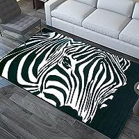 HDWN Alla moda grande tappeto camera da letto salotto divano Tavolino riempito con zebra minimalista moderno rettangolare stuoie , 200*300cm