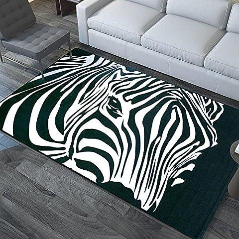 New day-Moda alfombra grande dormitorio sala de estar sofa mesa de centro llena de cebras minimalista moderno esteras rectangulares ,