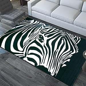 New day®-Alla moda grande tappeto camera da letto salotto divano Tavolino riempito con zebra minimalista moderno rettangolare stuoie , 120*170cm