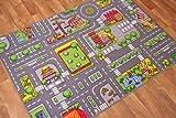 Kinder-Spielteppich Straßen-Matte Stadt Verkehr Straßen 95cm x 133cm