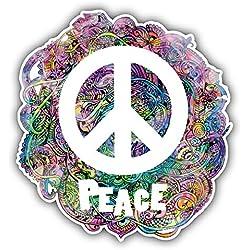 Hippie Style Peace Sign Pegatina de Vinilo Para la Decoracion del Vehiculo 12 X 12 cm