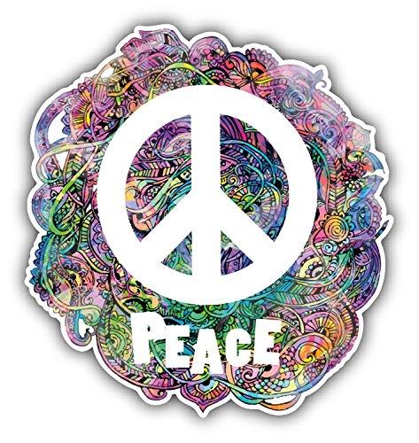 Hippie Style Peace Sign Pegatina de Vinilo Para la Decoracion del Vehi