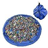 Luxebell Spielzeugbeutel Spielzeugsack und Spielmatte aufbewahrung für Lego Steine