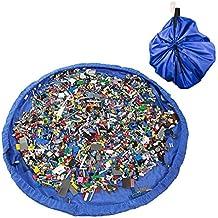 [Giocattolo del Sacchetto di Immagazzinaggio] Luxebell 150CM Giocare Mat di Nylon Per i Bambini Baby Blu