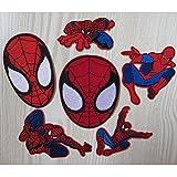 Coolpart 10pcs mixtes Super Hero Spider Man Embroidered Iron on patches Marvel Comics pour homme patchs à Patch DIY accessoire Parfait patches
