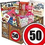DDR Geschenk box ++ Geburtstag Mama ++ Zahl 50 ++ Süssigkeiten Geschenk