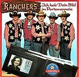 """RANCHERS / Ich hab´ Dein Bild im Portemonnaie / Ein echter Cowboy ist seiner Frau treu / VOLKSTÜMLICHE COUNTRY SCHLAGER MIT HERZ / 1991 / Bildhülle / ew # 9031-75268-7 / Deutsche Pressung / 7"""" Vinyl Single Schallplatte /"""