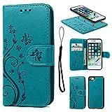 Coque iPhone 7 / iPhone 8 Etui Flip Cover Clapet 2 en 1 Coque Protecteur en Cuir PU...