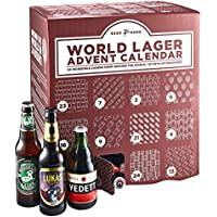 Beer Hawk World Lager Beer Advent Calendar 2018 – 24 Craft Beer Selection Christmas Gift Set